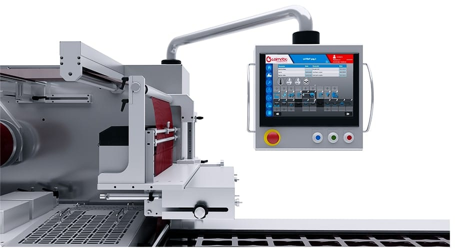 Resistive-touch operator panel thermoforming machine 650 - Colimatic thermoforming machines