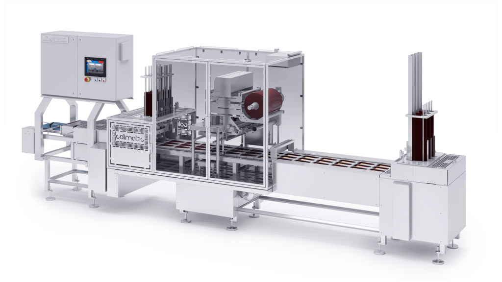 Cheese wedges Colimatic industrial thermosealers machines